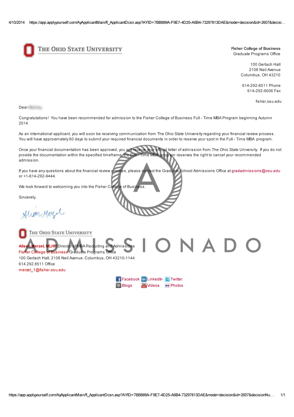 Ohio state university admission essay prompt