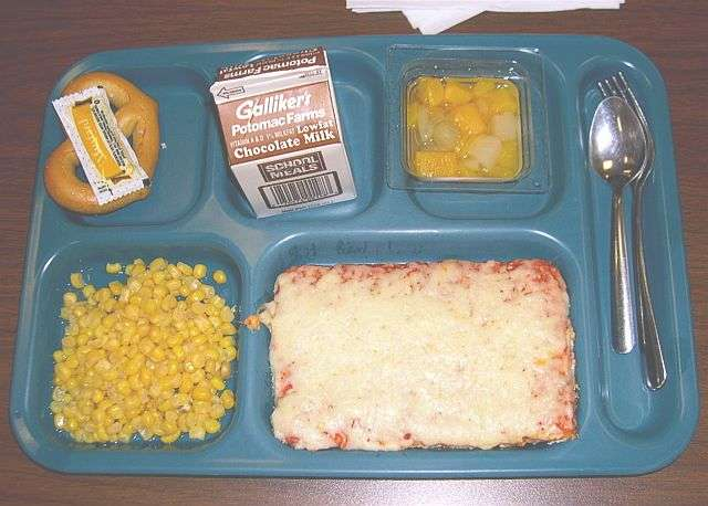 square cafeteria pizza