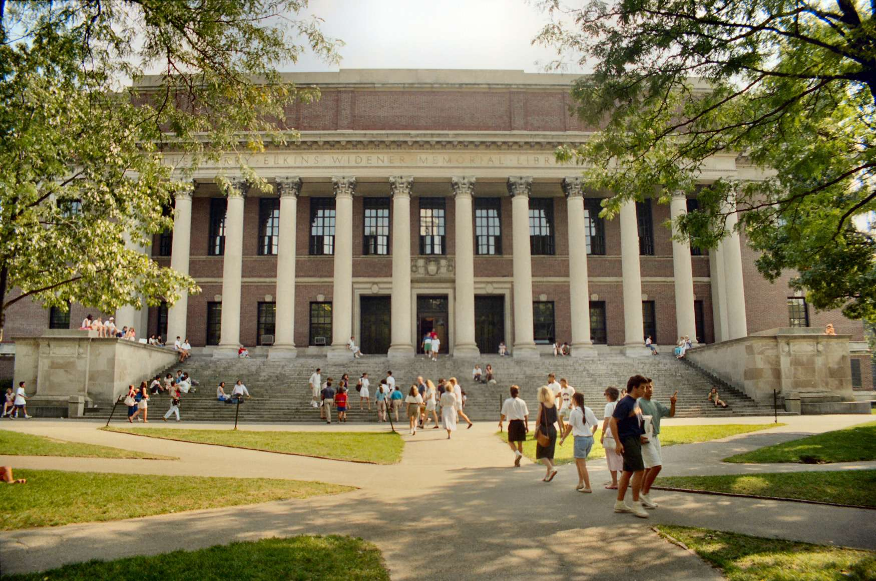 Cambridge - The Widener Library (1915) - Harvard University - Massachusetts