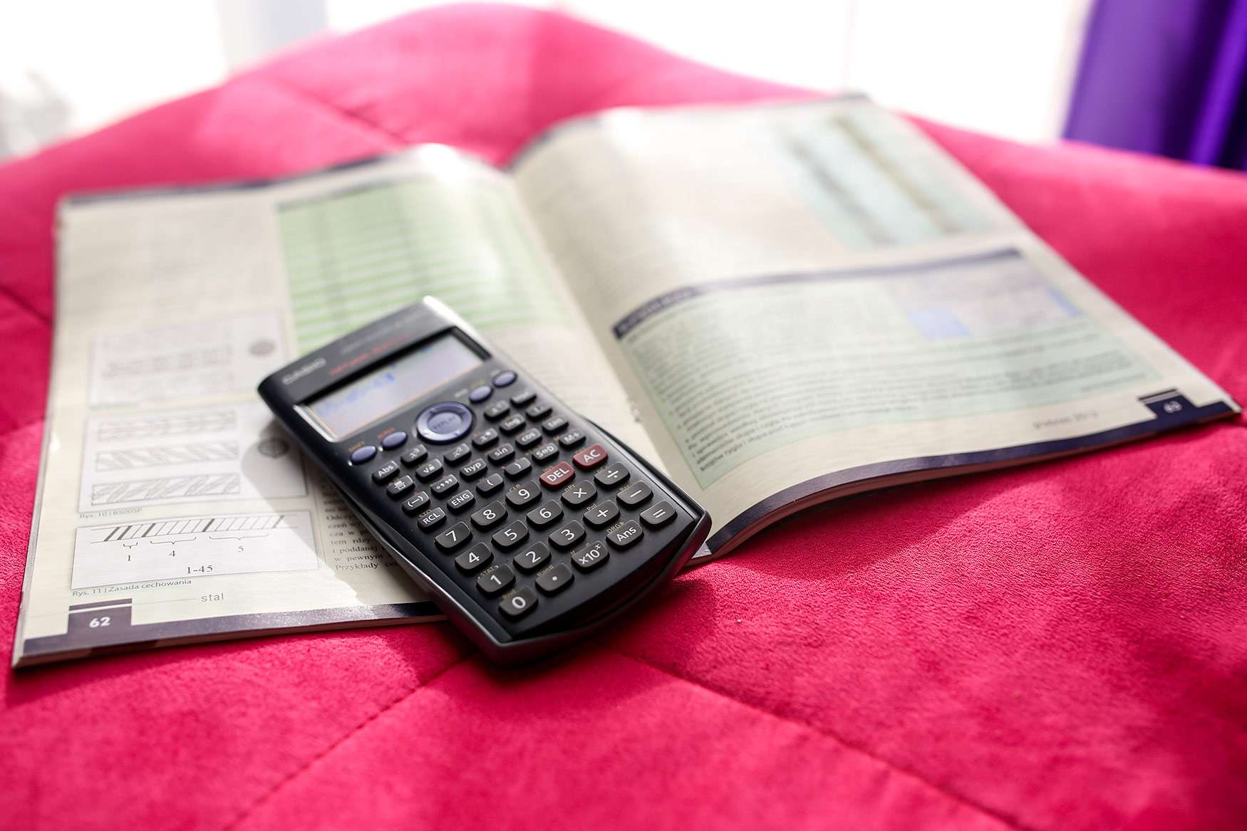 Calculator and test prep book