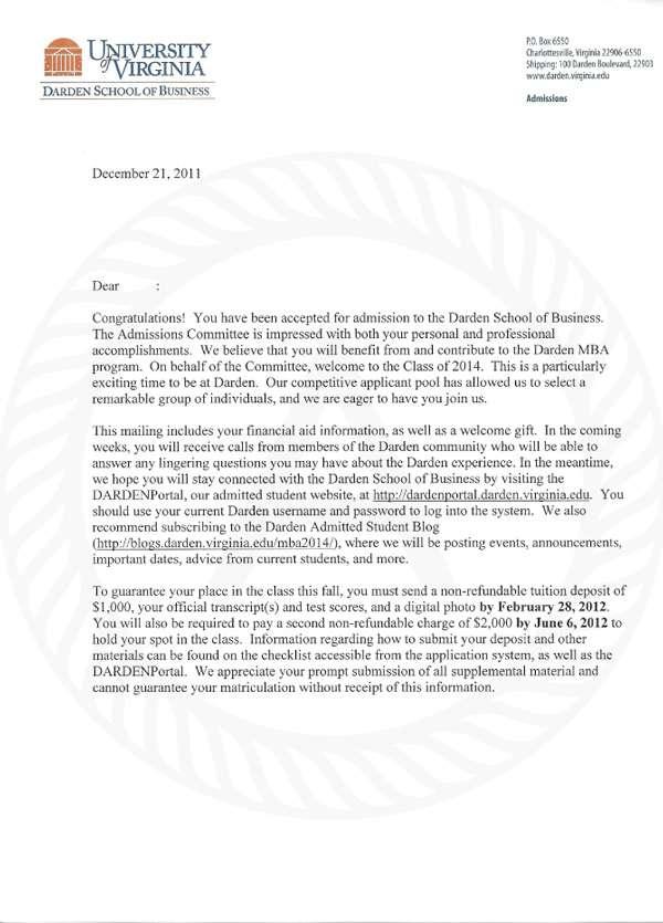 Daren ACceptance Letter